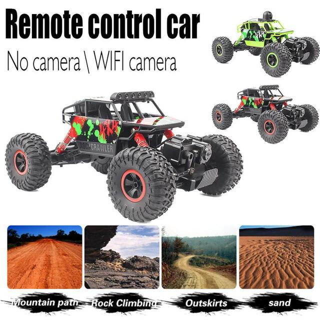 1:18 Remote Control 4WD 2.4G RC Car Climbing Vehicle With Camera WiFi Real-time Aerial Cross-country Racing Model For Kids Gifts