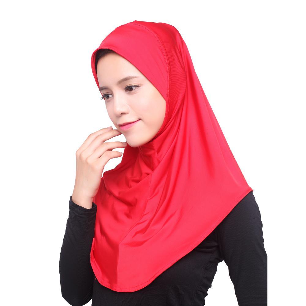Image 2 - Women Muslim Viscose Long Scarf Hijab Islamic Shawls Arab Shayla  Wrap Scarves Headwear Hats Prayer Hat Full Cover Niquabs AmiraWomens  Scarves
