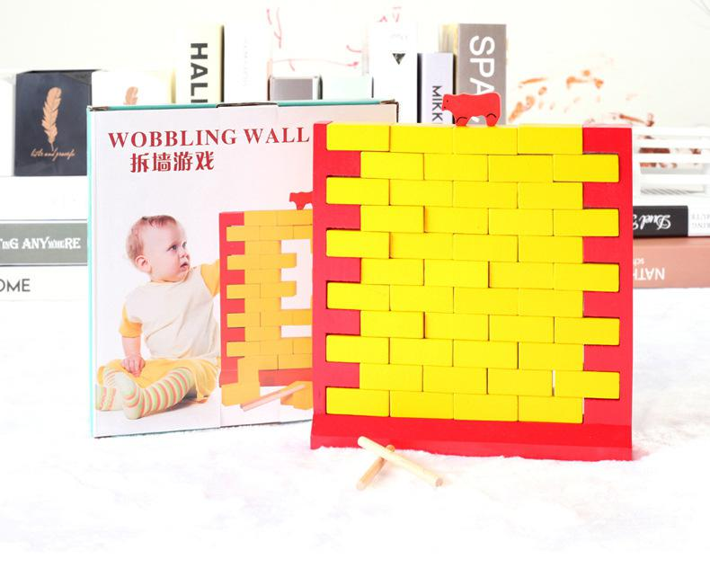 RCtown Wooden Laying Bricks Blocks Tabletop Educational Puzzle Toy