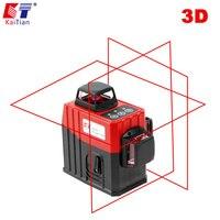 Кайтианский лазер/уровень/3D/360/уравнитель/для строительства/Горизонтальный Вертикальный 12 линий/ротационный/с самонивелированием/уровень/