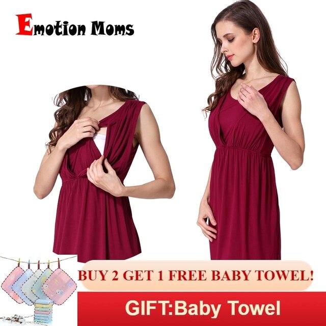 f338834fe099 Emozione Le Mamme Con Scollo A V di Estate Maternità vestiti Maternità  Abiti Allattamento Al Seno Vestiti