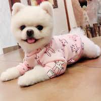 Ropa de perro Chic para perros pequeños xs dibujo animado perro jack Primavera Verano Chihuahua Pug gato perro ropa abrigo ropa de perro