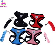 Small Nylon Dog Harness Cat Pet Set Chihuahua Accessories Lead Shop Supplies Collars Laisse