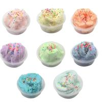 Colored DIY Mud Gradient Crystal Multicolor Slime Toys For Kids With Antistress colored foam ball Clear Fluffy Clay For kids