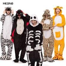 c072a368dc04a7 HKSNG dorosły kot smok Pikachu Kigurumi Onesies piżamy flanelowe tygrys  Party Halloween zwierząt ściegu niedźwiedź Panda