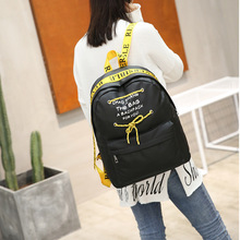 Ms Shoulder Bag Female Bag Korean-Style Fashion New Style Tide Oxford Canvas College Wind Nylon Backpack Women luodun 2018 new backpack female shoulder bag leather fashion korean wave simple bag college wind mini bag ladies bag
