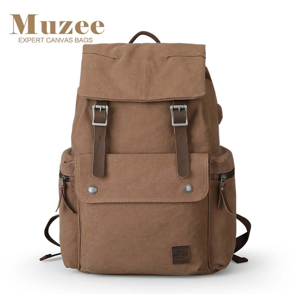Hommes sac à dos grande capacité toile ordinateur étudiant sacs à dos rétro Vintage mode sac à dos pour extérieur voyage affaires sac