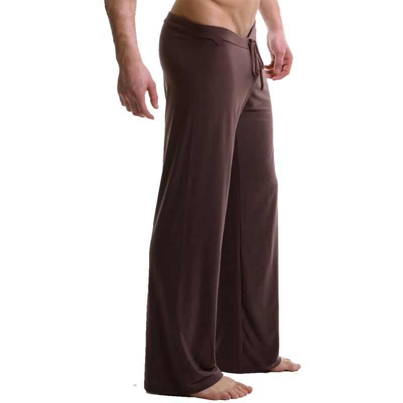 Sleep Bottoms Men's Casual Trousers Soft Comfortable Men's Sleep Bottoms Homewear XXL Pants Pajama Lacing Loose Lounge Clothing