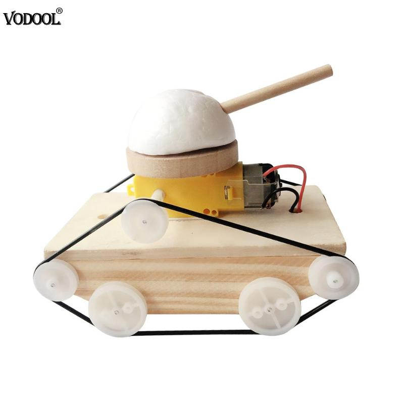 DIY Tank Vehicle Model Toys For Kids Scientific Experiment Students Kits Early Educational Kits School Supplies Cute