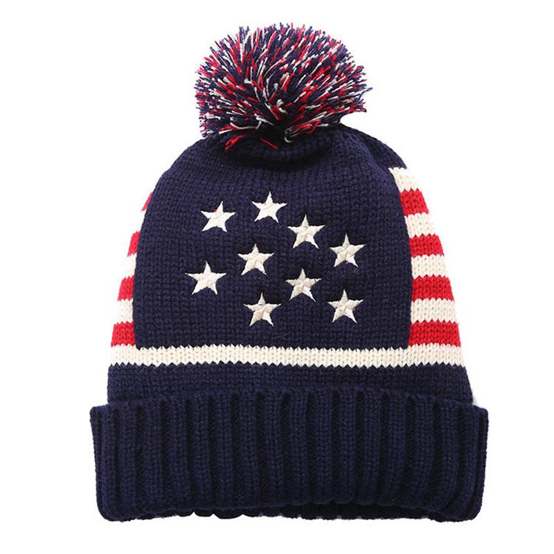ac42a0cba7d89 American UK Flag Beanie Hat Winter Warm Wool knitted Caps For Man Women  Skullies Cool Beanies