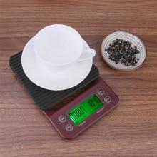 5 кг/0,5 г элетронные кухонные весы капельная Кофеварка весы точный большой прозрачный ЖК-дисплей кофейные весы с таймером и функцией тары