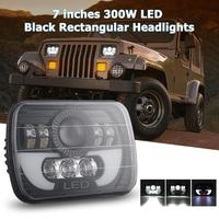 7x6/ 5x7 inch 300W LED Headlight Rectangular Hi Lo Light for Car Truck SUV IP67 Waterproof Shockproof Function High Quality