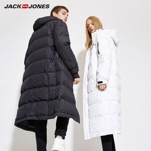 Image 2 - JackJones Mens Winter Long Hooded Duck Down Jacket Parka Coat Fashion Outerwear for Menswear 218312516