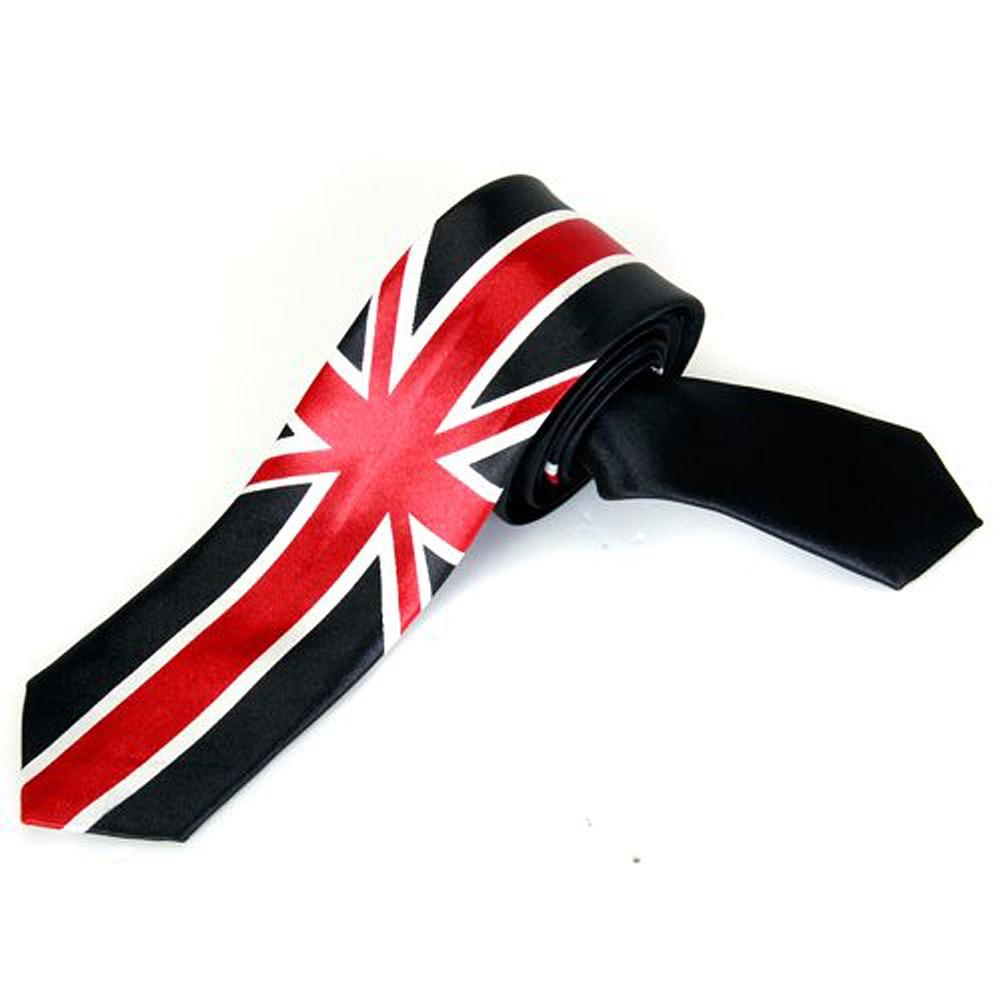 Unisex Freizeit Krawatte Skinny Schmale Krawatte - Union Jack