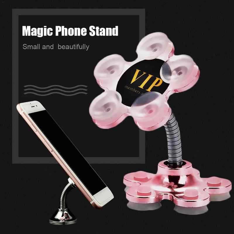 Car Phone Holder Magic Double-Sided Suction Cup Navigation Universal Multi-Function Lazy Innovative Stand Office Kitchen Car Use