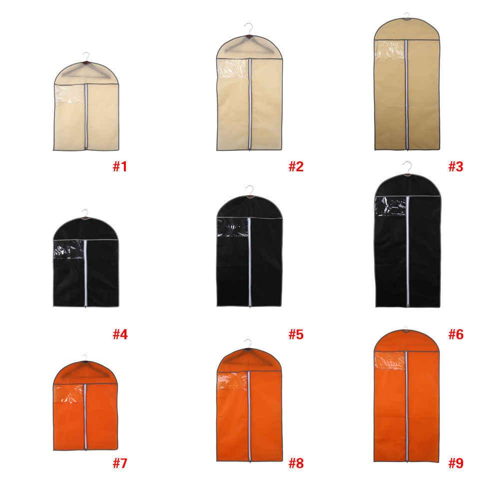 3 サイズ最高品質のスーツカバースカートドレス衣服コート服シャツトラベルキャリア不織布服カバー黒ベージュ