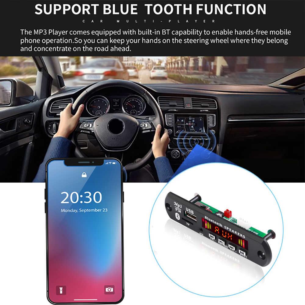 USB AUX Bluetooth Handsfree car kit FM radio Draadloze Audio-ontvanger Ondersteuning USB 3.5mm TF aux speler universele 5 v-12 V DC