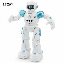 LEORY RC Robot Intelligent Programming Remote Control Robotica Toy Sing Gesture Dance Robot For Children Kids Birthday Gift(China)