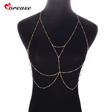 Morease Sexy Body Chian Retro Jewelry Women font b Sex b font Toys Breast Necklace Flirting