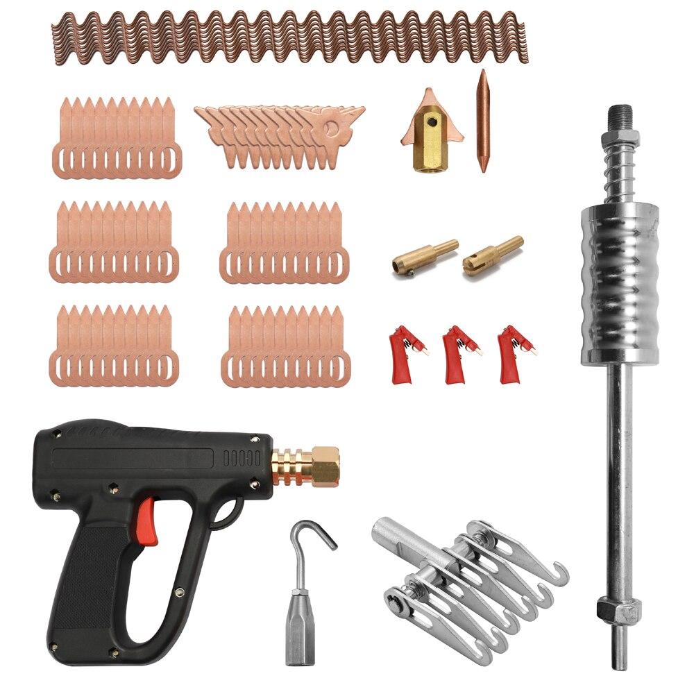 81pcs Dent Puller Kit Car Body Repairing Tools Spot Welding Electrodes Spotter Welder Machine Removing Straightenging