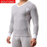 Soutong Winter Cotton Men Long Johns Thicken Men Thermal Underwear Sets Warm Long Johns Men Thermal Undershirts Trousers qkt02