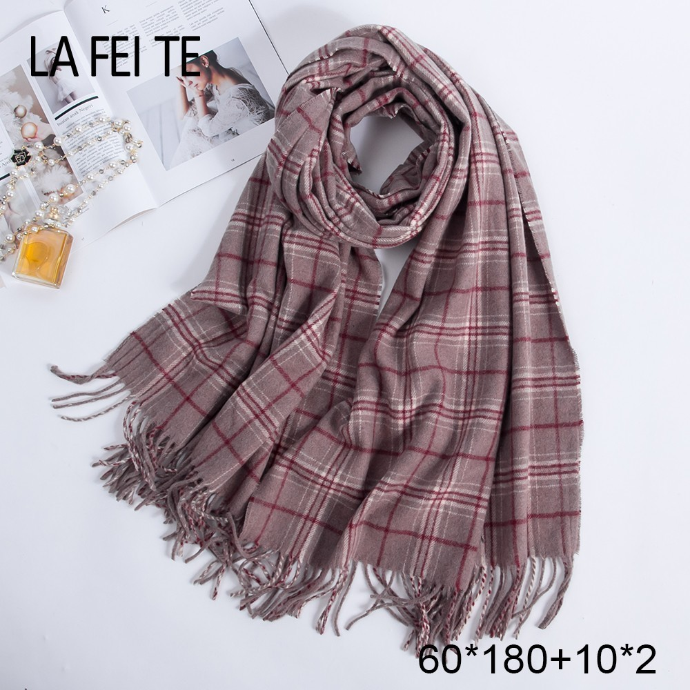 Image 3 - Pure 100% Wool Scarf Women Foulard Neck Handkerchiefs Echarpe Homme Cashmere Shawls Blanket Stoles Women Scarves For Ladies 2019-in Women's Scarves from Apparel Accessories