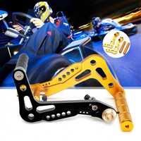 2Pcs Universal Go Kart Racing Pedals Billet Aluminum CNC Brake And Accelerator Set Black Gold Pedals