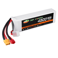 XF Power 14.8V 4500mAh 75C 4S Lipo Battery w/ T/XT60 Plug Connector for Skyhunter RC Airplane Multicopter Spare Parts Drone Accs