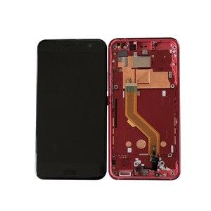 "Image 2 - M & סן מסגרת עבור 5.5 ""HTC U11 LCD מסך תצוגה + מגע פנל Digitizer מסך עבור HTC U11 u 3w U 1w U 3u תצוגה"