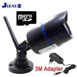 JIENU Câmera IP wi-fi 720 P 960 P 1080 P CCTV de Vigilância de Segurança Impermeável Ao Ar Livre sem fio em casa de Apoio cam Micro slot sd ipcam