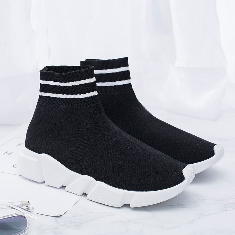 Newest Unisex Sock Sneakers High Top Running Shoes Men Lightweight Walking Jogging Trainers Outdoors Sport Shoes Woman