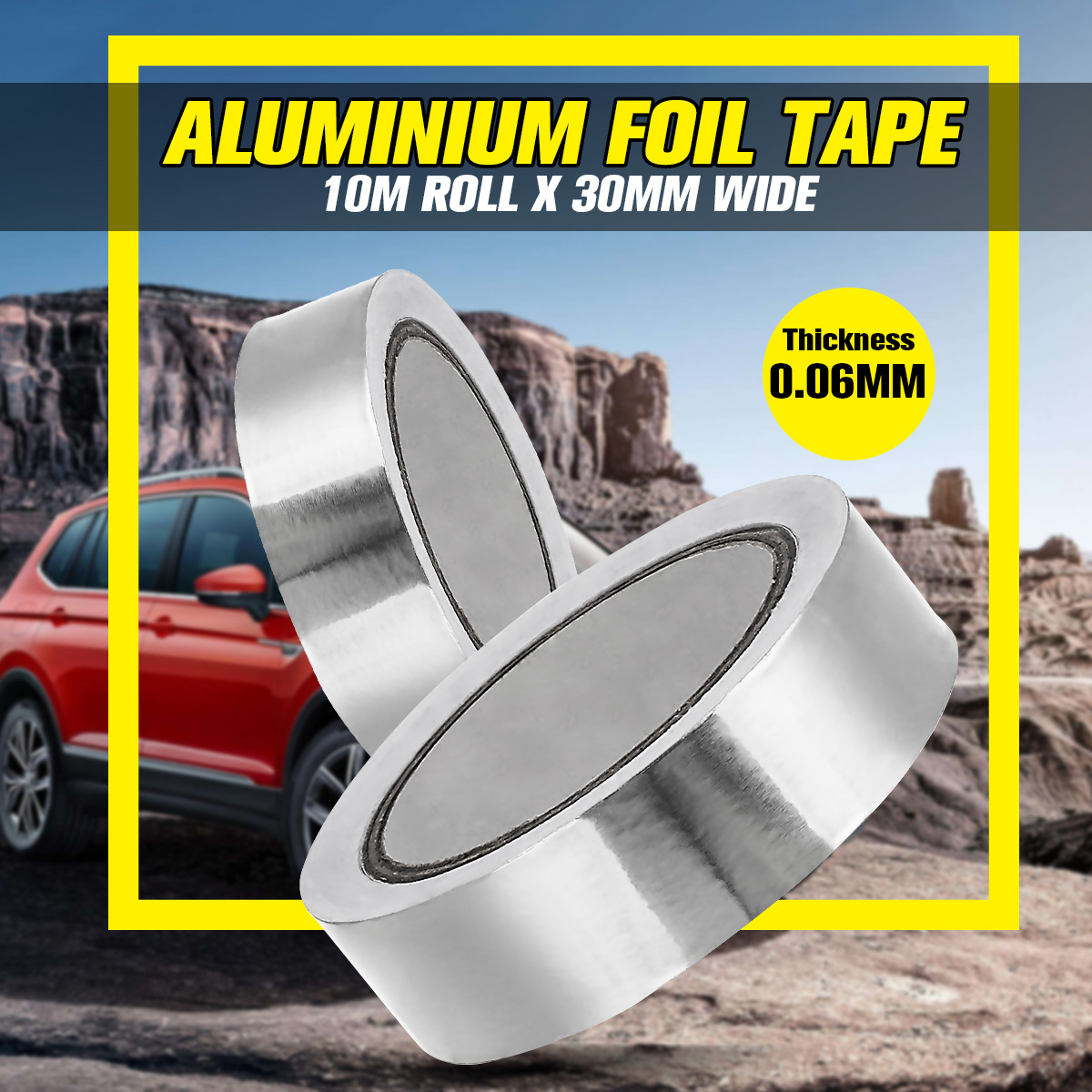 New Chrome Adhesive Car Aluminium Foil Tape Stripe Roll  3cm X 20m With Temperature Stability