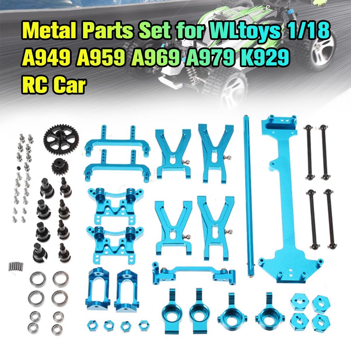 WLtoys 1/18 A949 A959 A969 A979 K929 mis à niveau en métal RC pièces de Kit de pièces de voiture arbre d'entraînement conseil de direction moyeu réducteur