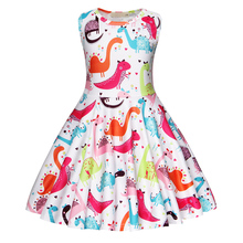 2019 AmzBarley Baby Girls Dress Sleeveless Unicorn clothes Kids Children Party Dresses Princess Costume