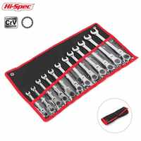 Hi-Spec 6/8 12pc Flexible Combination Wrench Set Ratchet Wrench Torque Wrench Spanner A Set of Keys Torquimetro Chave Catraca