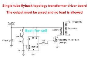 Image 2 - DYKB 20KV Ad Alta Frequenza Trasformatore Ad Alta Tensione Bobina di Accensione Inverter Bordo di Driver Fumi purificatore generatore di ioni negativi