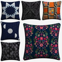 Radiance Luna Stars Glimmer Style Decorative Cotton Linen Cushion Cover 45x45 cm For Sofa Chair Pillowcase Home Decor Almofada