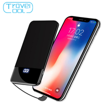 Travelcool USB Mini Power Bank 8000mAh External Battery for iphone Powerbank Quick Charge Ultra Slim Mobile Samsung Xiaomi