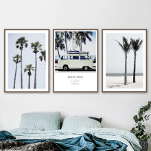 Beach Coconut Tree Travel Car Wall Art Canvas Painting Nordic Posters And Prints Landscape Pictures For Living Room Decor