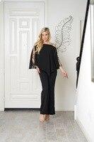 Bat Sleeve Paillette Hollow Tai Pants Rompers Womens Black Jumpsuit Woman Clothes Ladies Women Bodysuit