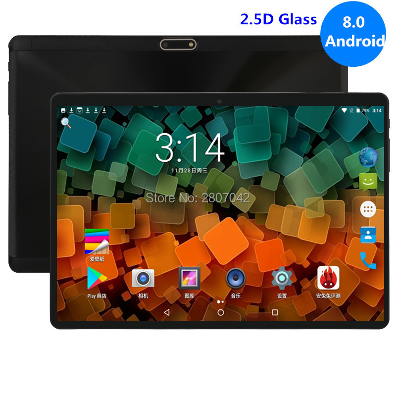 10 Inch Tablet PC Octa Core 4GB RAM 64GB ROM Dual SIM Card Slots Youtube 1280X800 2.5D IPS Screen Android 8.0 GPS Tablet 10.1