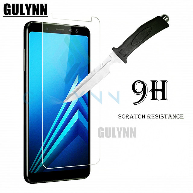 2PC 9H Tempered Glass For Samsung Galaxy A6 + Plus 2018 Duos SM-A605FN/DS A605 Screen Protector for Samsung A6 2018 A600 Cover