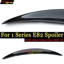 E82 E88 Spoiler Rear Tail Lip Wing Ride style Carbon For BMW E82 E88 118i 120i 125i 128i 130i 135i Rear Spoiler Lip Wing 2007-13