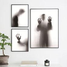 Affiche de cauchemar Simple, impression de peur, Vague, puissance de foi, peinture sur toile, avide de sourire, Art, décoration de la maison, sans cadre