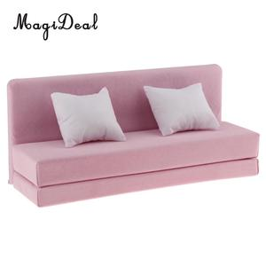 Image 3 - 1/6 длинный диван с подушками для 12 дюймов фигурки куклы кукольный домик Гостиная мебельный аксессуар Декор Игрушка