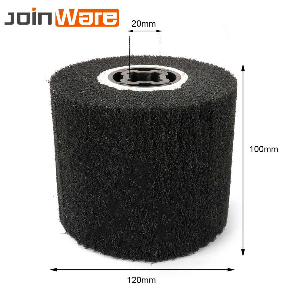 "5/"" Non-woven Abrasive Flap Wheel Wire Drawing Polishing Burnishing Wheel 120#"