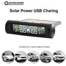 Smart Car TPMS Solar Power USB External Internal Sensor Car Tire Pressure Monitoring System Realtime Alarm for SUV Vehicle MPV