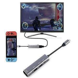 "Image 4 - להאכיל לי מחשב נייד עגינה סוג c עגינה תחנת USB3.0 ממיר 4k כדי HDMI פ""ד רכזת עבור MacBook huawei"