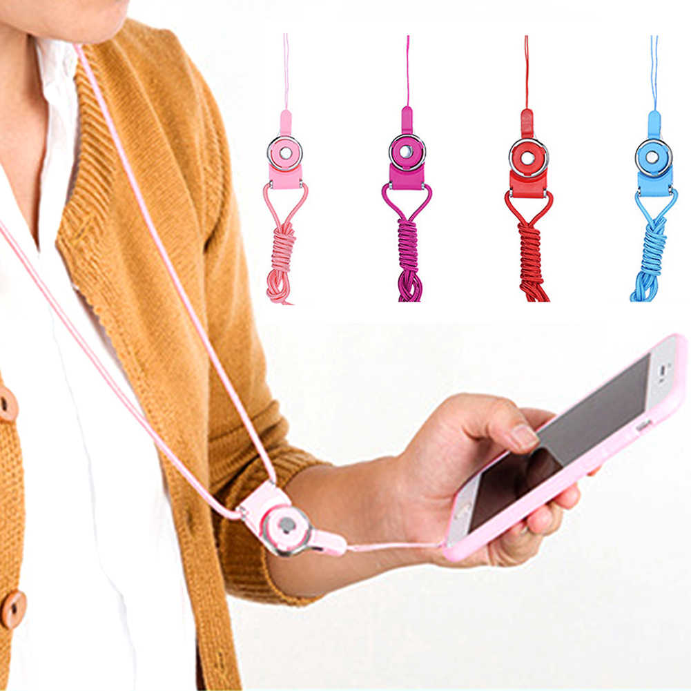 Universal Detachable Anti Lost Neck Straps Ring Holder Color Chain Phone Strap Lanyard For iPhone  Xiaomi