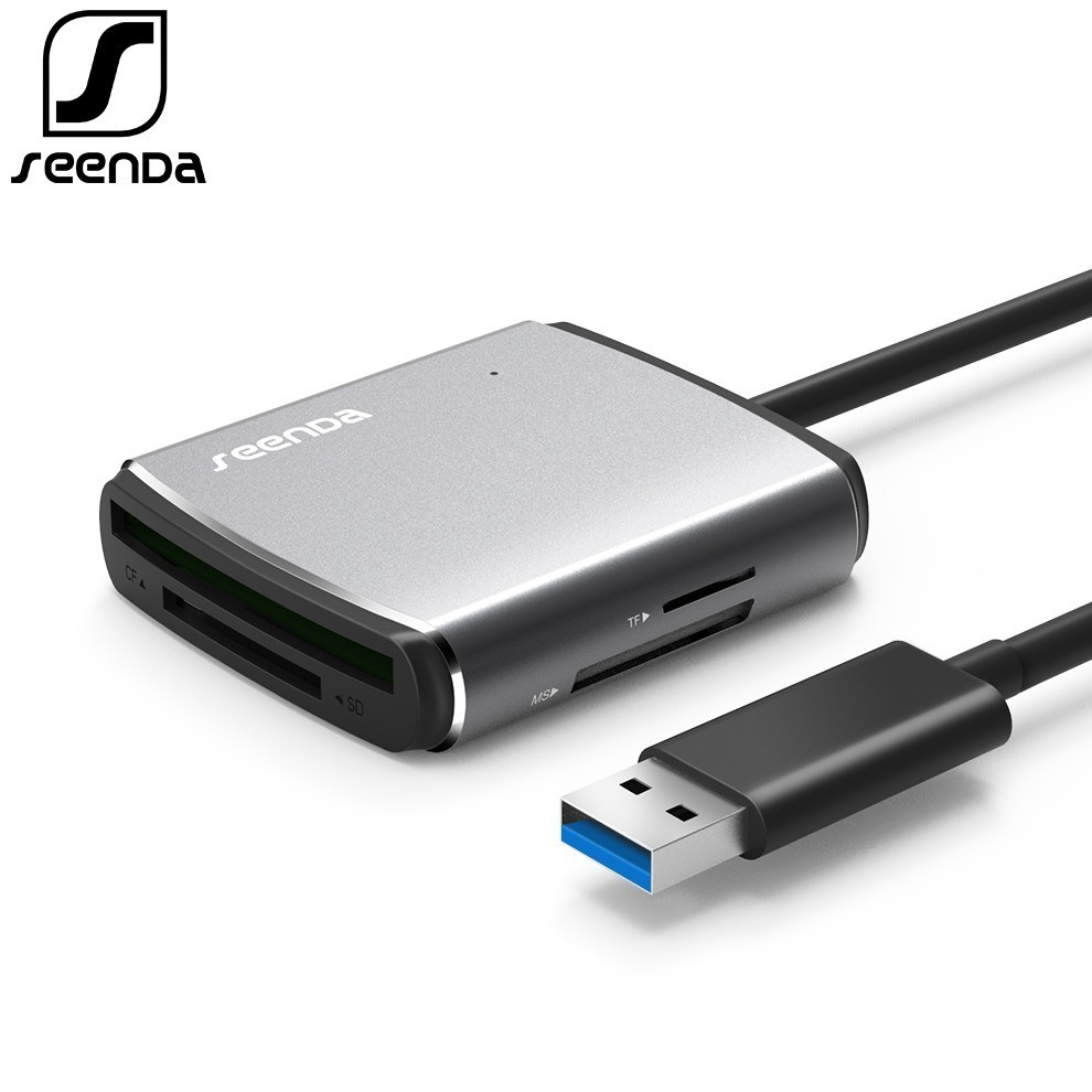 SeenDa USB3.0 Card Reader High-Speed Multi Camera Memory Card SD CF TF MS Mobile Phone OTG Card Reader For PC Laptop Card Reader